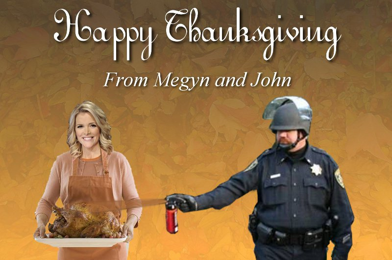 Happy Thanksgiving from Megyn and John