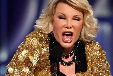 Joan Rivers may have bent the elbow prior to this photo being taken
