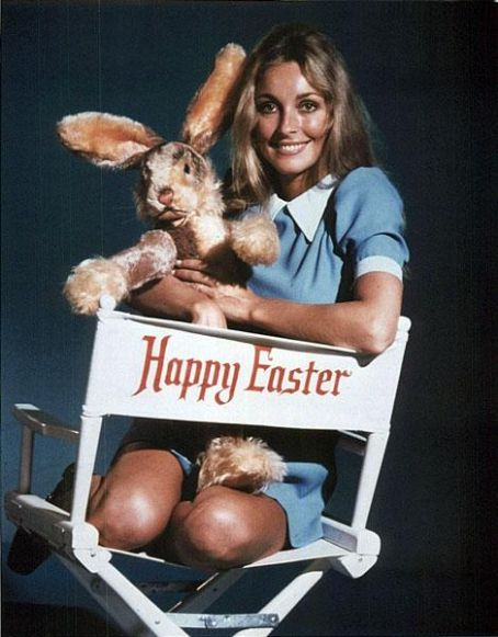 Happy Easter from Sharon Tate and the Easter Bunny