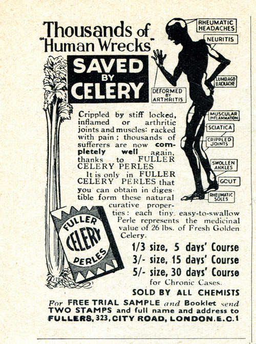 Celery pills, because who wants to EAT the damn stuff?